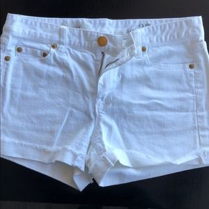 J Crew White Denim Cutoff Shorts 27